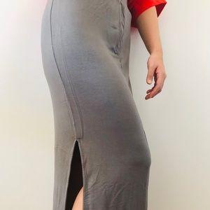 Uniqlo Long Pencil Skirt Slit
